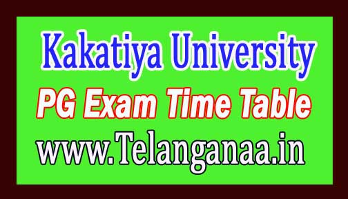 KU PG 3rd Sem Time Table Download 2016 Kakatiya University