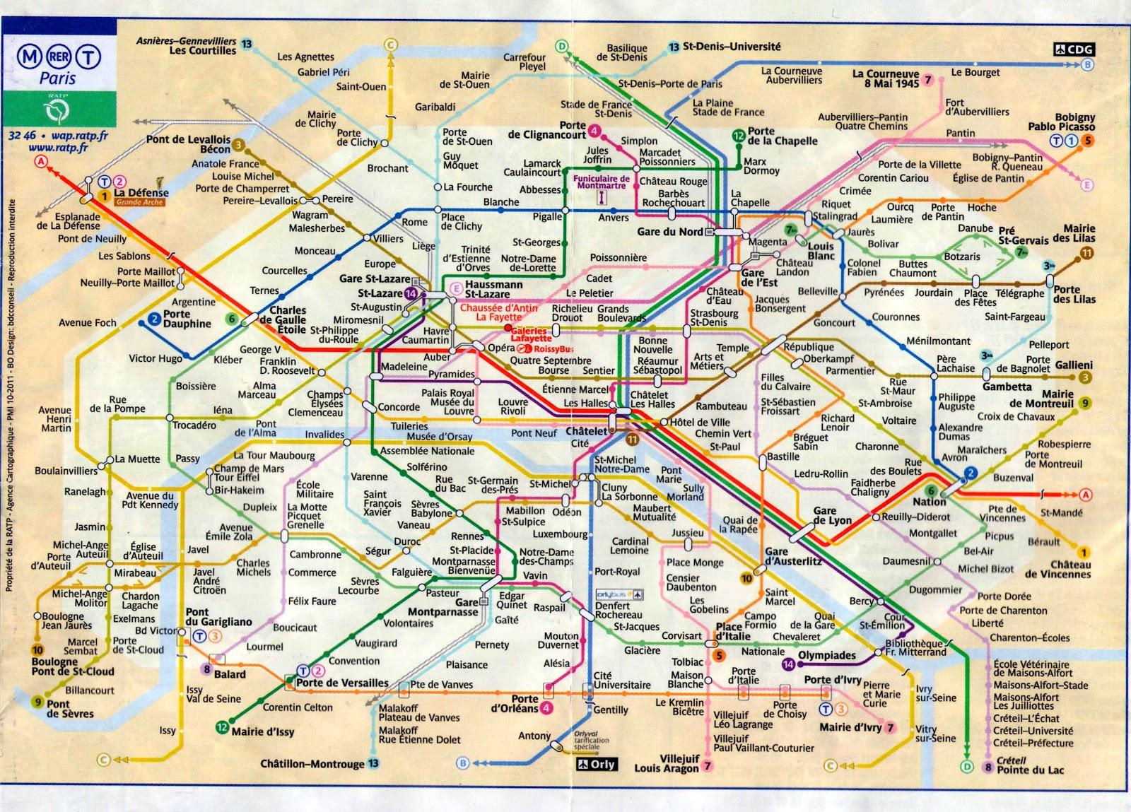 Paris Metro Map 2016.Pz C Paris Metro