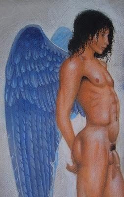 mythologie, dessin, Icare, éphèbe nu, ailes