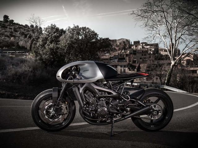 Una muy sexy y futurista cafe racer con motor XSR900