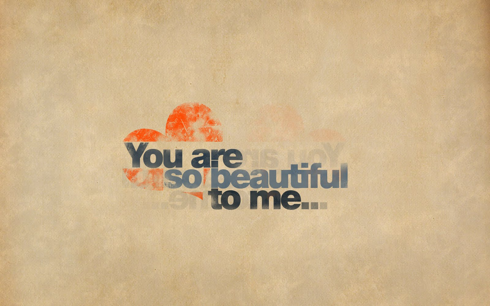 You Are So Beautiful To Me HD Love Wallpaper