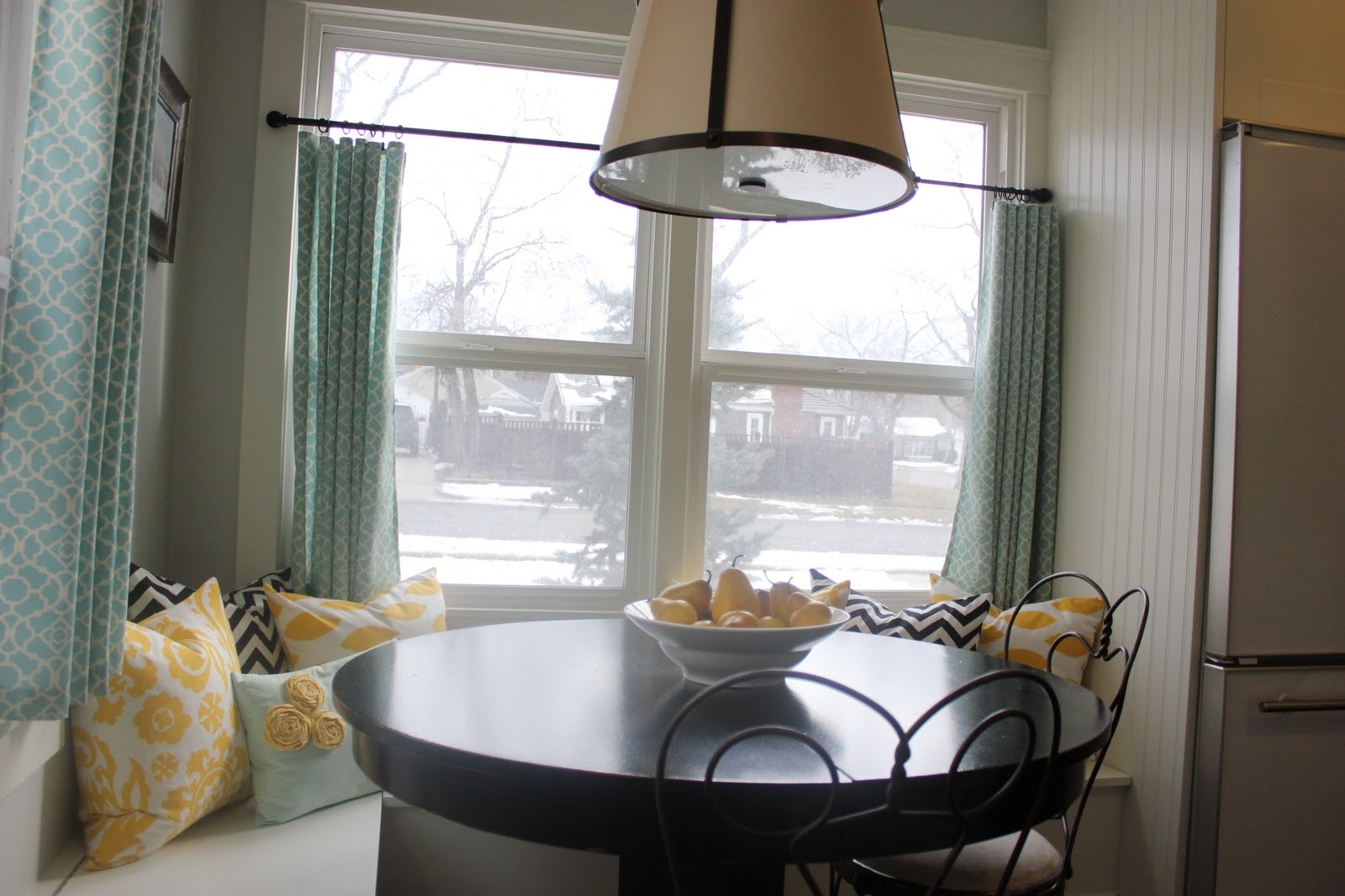 kitchen nook curtains updated kitchens a tree lined street breakfast and sneak peek