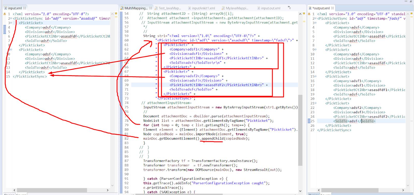 Sap Pi Reference Merget 2 Xml Files In Sap Pi