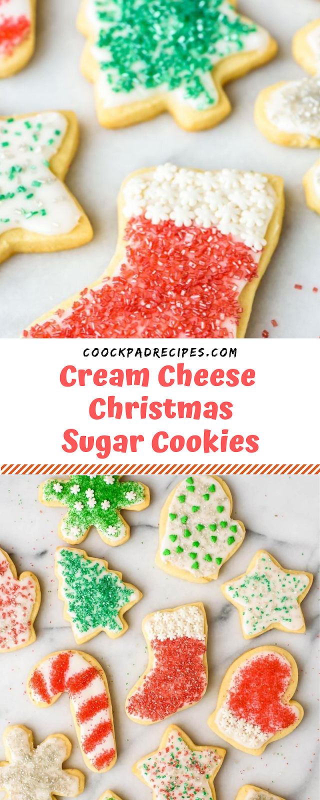 Cream Cheese Christmas Sugar Cookies  # Christmas #Cookies