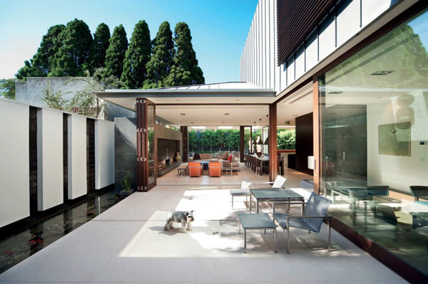 Photo of modern terrace in the backyard