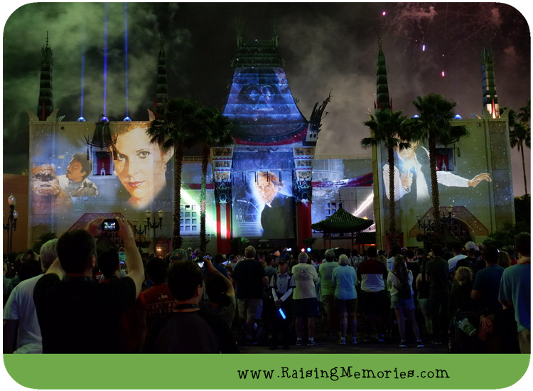 Hollywood Studios Star Wars Light and Fireworks Show
