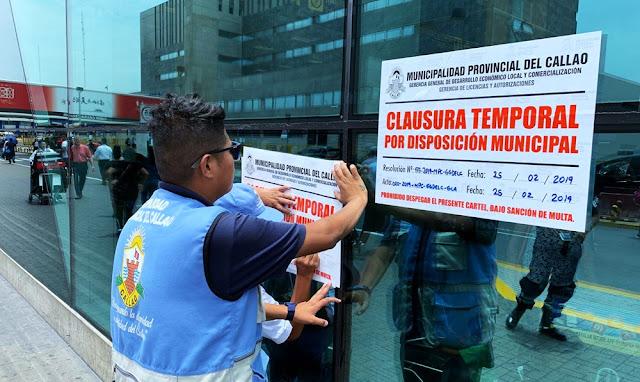 Municipio del Callao, ordena clausura temporal del aeropuerto Jorge Chávez por no colocar carteles contra la discriminación