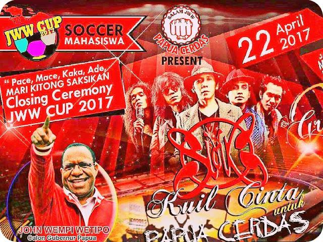 Slank Meriahkan Final Jhon Wempi Wetipo (JWW) Cup 2017