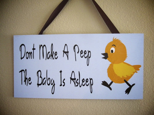 Allyballydesigns Baby Sleeping Door Signs