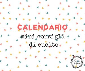Il calendario del cucito