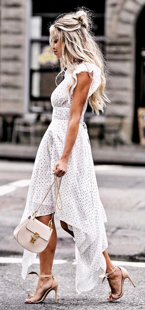 perfect summer outfit: bag + maxi dress + heels