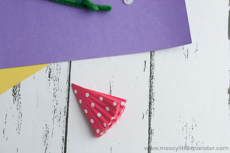 How to make a flower cupcake liner craft.