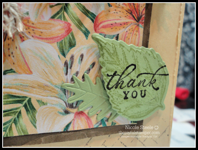 tropical Thank You card using Stampin' Up!'s Tropical Oasis suite | Nicole Steele The Joyful Stamper