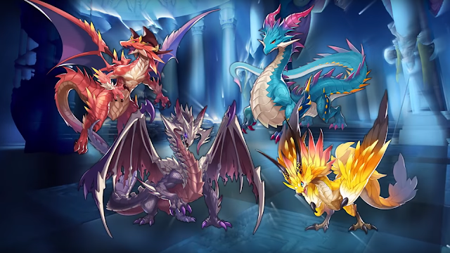 Dragalia Lost dragon design Brunhilda Mercury Jupiter Zodiark wyrms