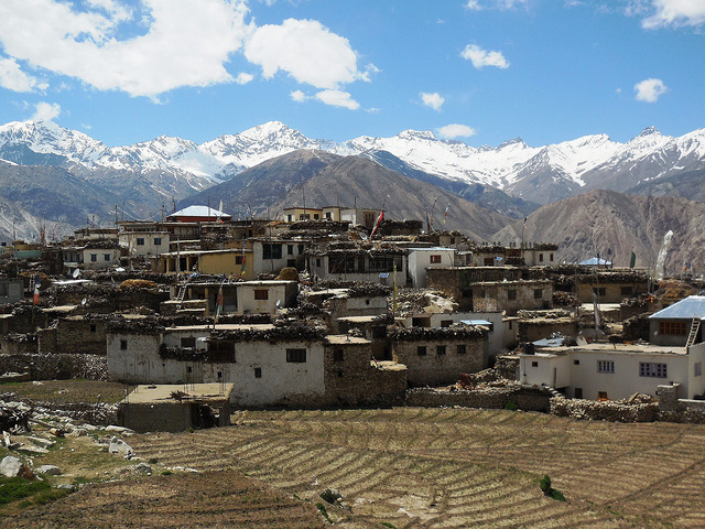 Nako village in surrounded by high peaks