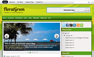 FloralGreen_Blogger_Template