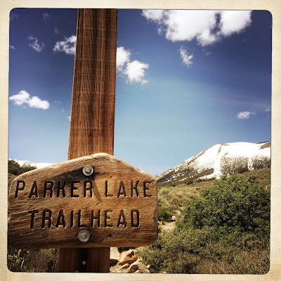 Parker Lake Trailhead sign