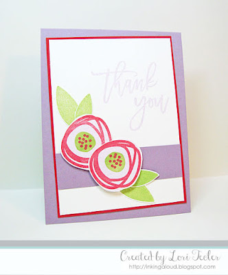 Floral Thank You card-designed by Lori Tecler/Inking Aloud-stamps from Right at Home
