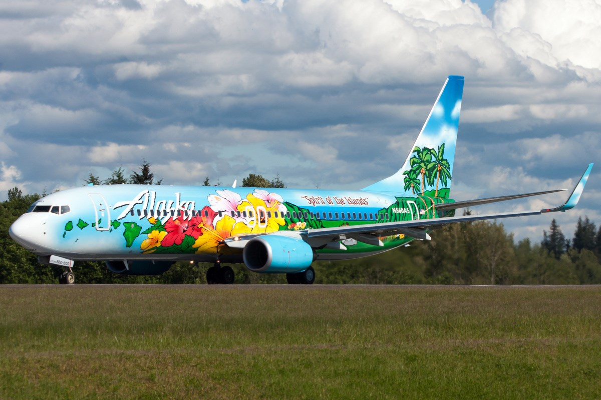 Flyingphotos Magazine News Alaska Airlines B737 800