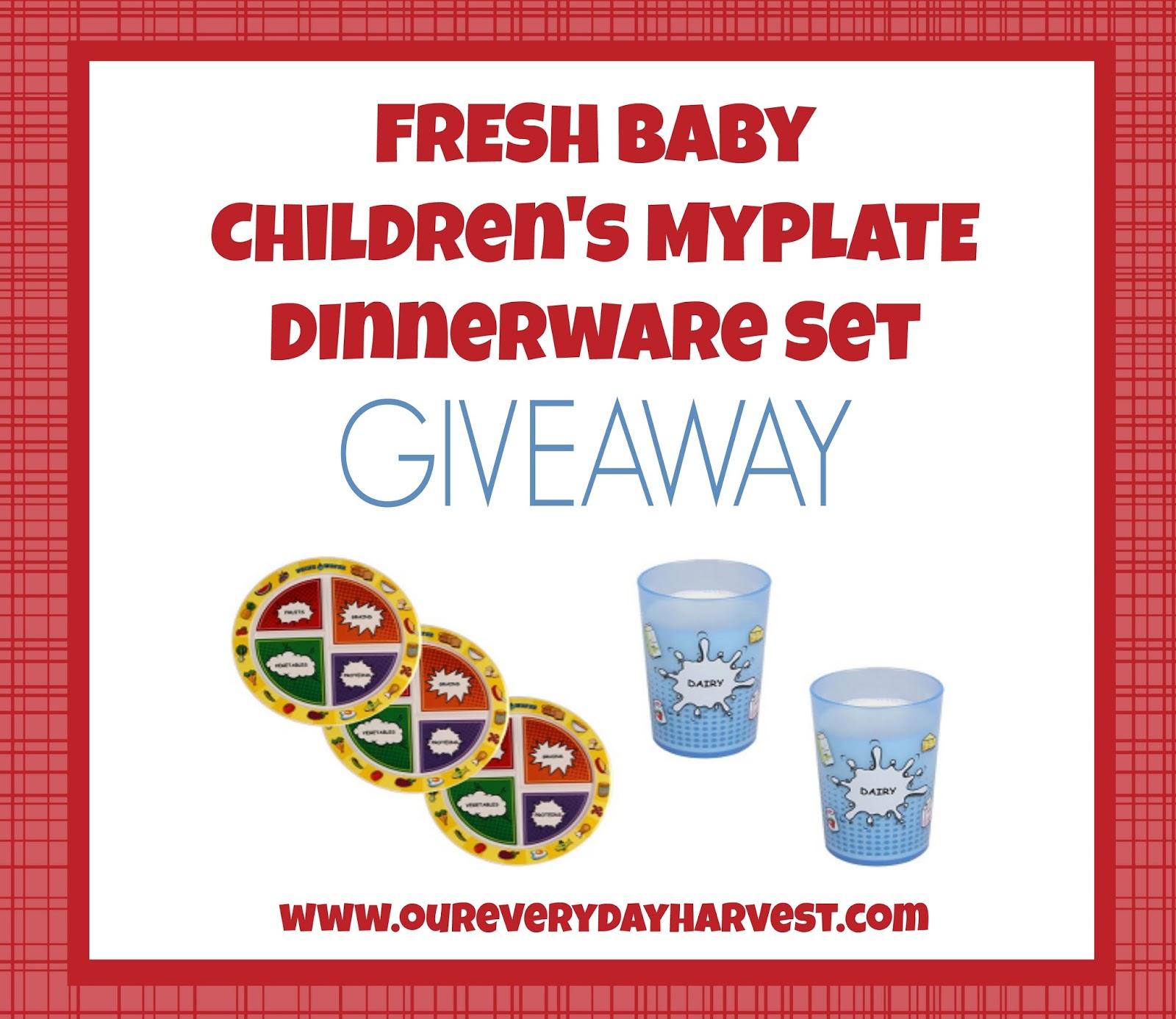 Fresh Baby Children's Comic Book Design MyPlate Dinnerware Set