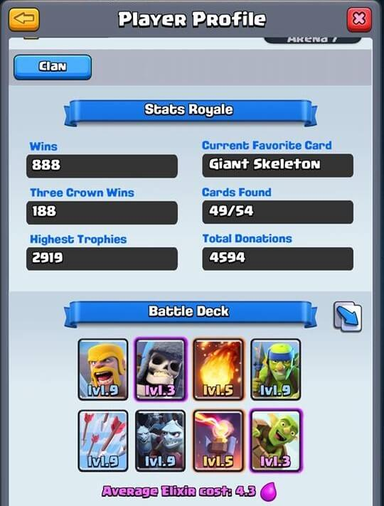clash royale deck