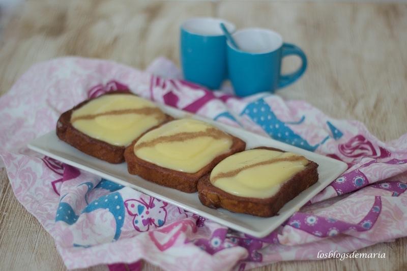 torrijas de crema de yema