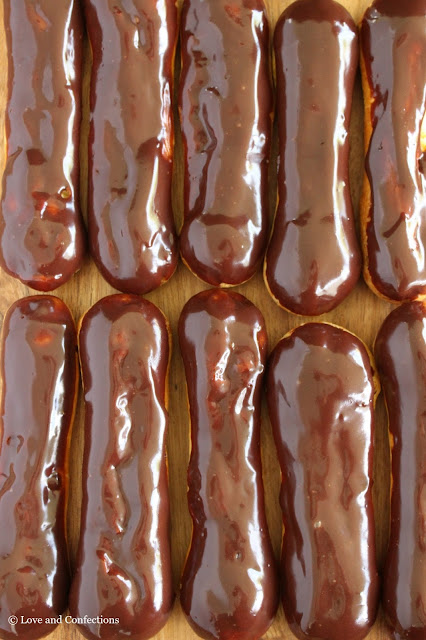Chocolate Eclairs from LoveandConfections.com #SundaySupper #JuneDairyMonth #FloridaMilk