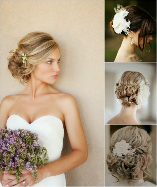 Hairstyle Wedding Extensions: Wedding Hairstyles Up With Flowers