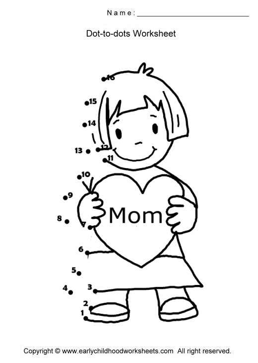Mother S Day Coloring Worksheet : All worksheets free printable mothers day