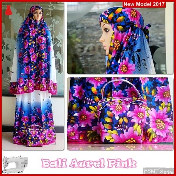 PSMT165A Mukena  Aurel Bali Pink Simple Tato India