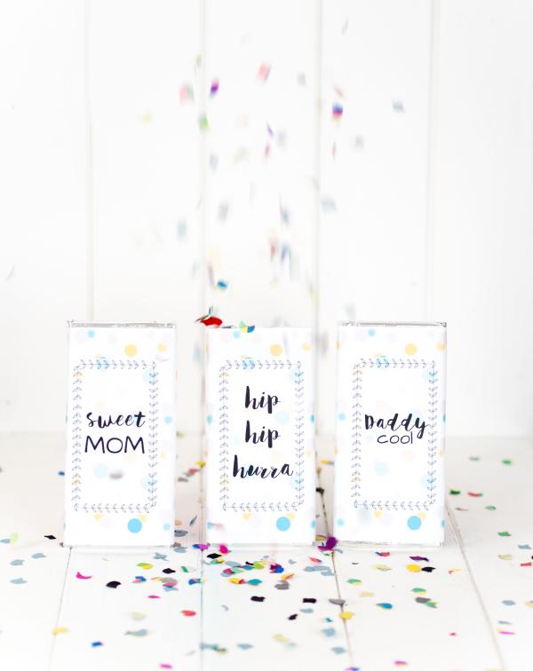 Geschenkidee: Schokolade mit DIY Verpackung