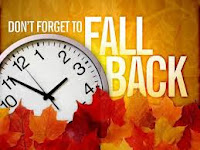 "Clock, leaves, and ""Don't forget to fall back"""