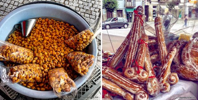 Petiscos típicos das festas de São Gonçalo, em Amarante