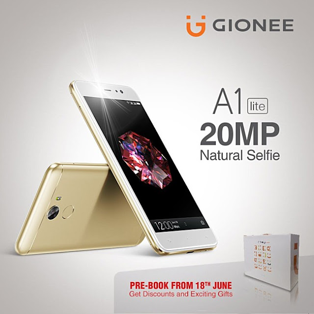 Gionee A1 lite unveiled with 20MP selfie shooter, 4,000mAh battery