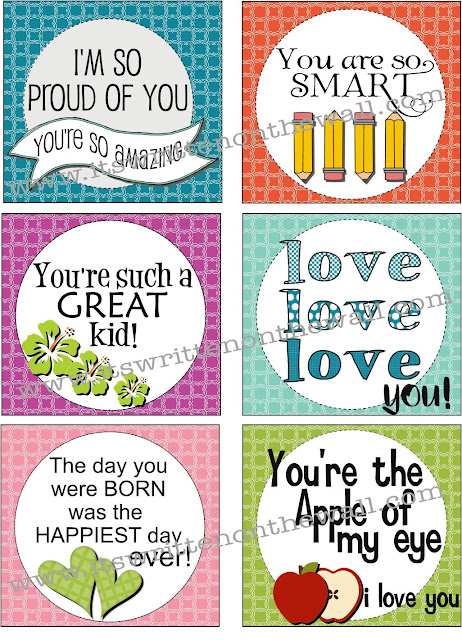 Freebie lunchbox notes for kids send a love note in their lunchbox