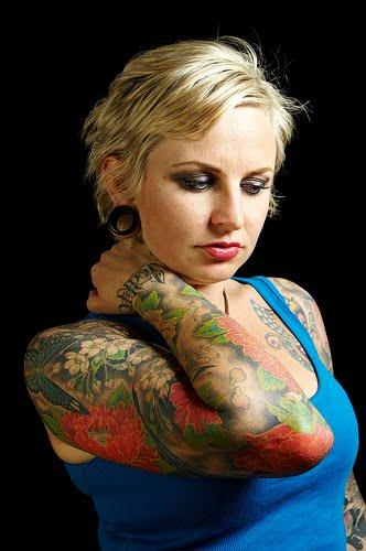 Tattoos Designs Art Sleeve Tattoo Girl