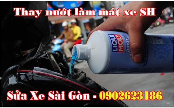 Nhận biết xe cần thay nước mát và cách thay nước mát cho Sh150i