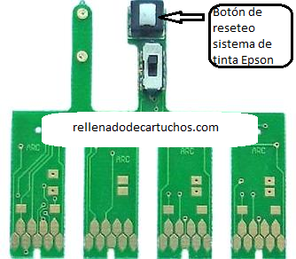 button for reset epson printer