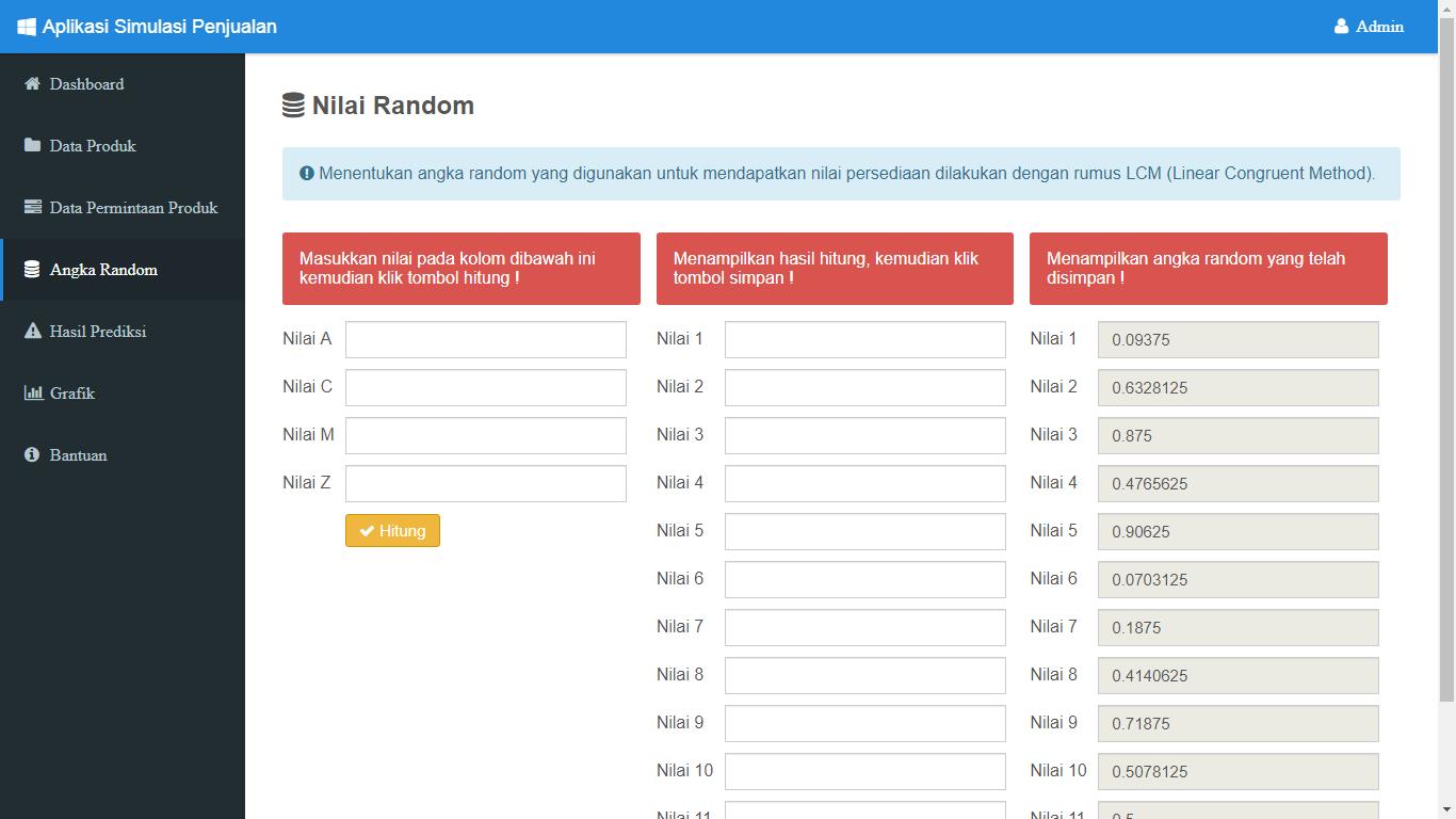Aplikasi Simulasi Prediksi Penjualan Dengan Metode Monte Carlo - SourceCodeKu.com