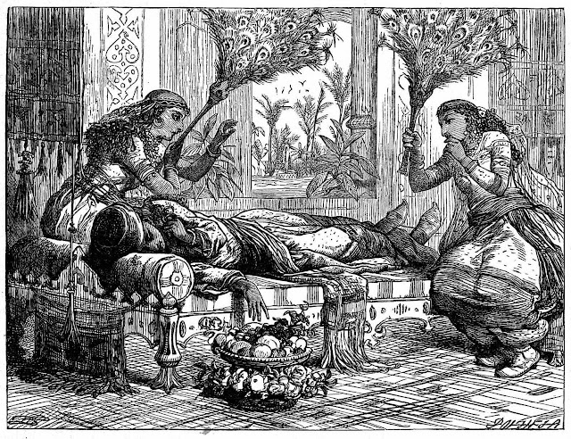 a Dalziel Brothers engraving for a book illustration of a princess