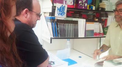 En la Feria del Libro de Madrid con Antonio Muñoz Molina