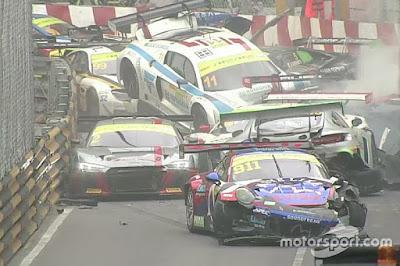 Insiden di Balapan FIA GT Di Macau