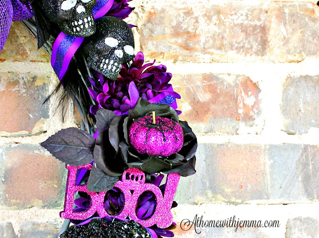decorating-Halloween-ideas-purple-pumpkin-athomewithjemma