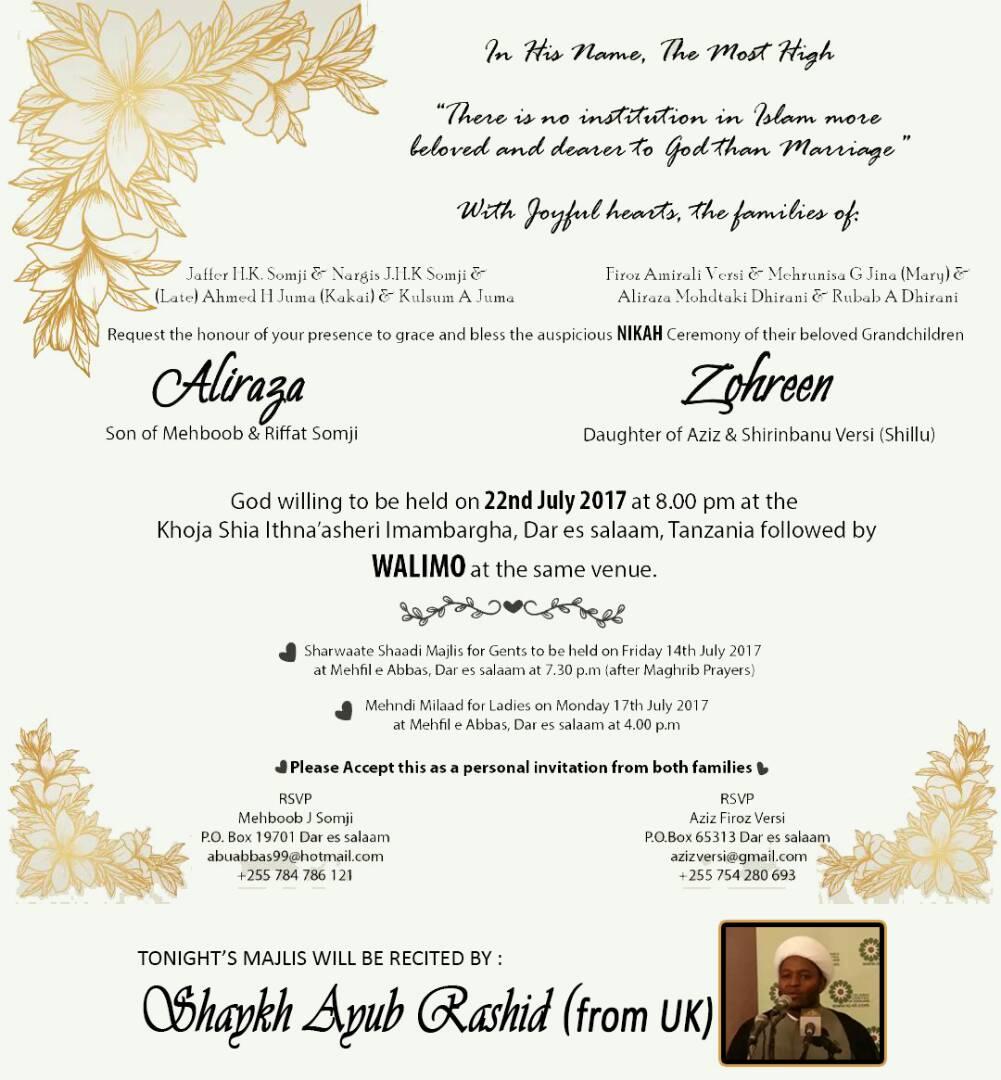 Dsm Tabligh Sms Wedding Invitation