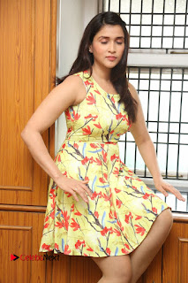 Actress Mannara Chopra Pictures in Floral Short Dress at Jakkanna Movie Interview  0090.JPG