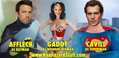 Ben Affleck Batman Gal Gadot Wonder Woman Henry Cavill Superman Dawn of Justice
