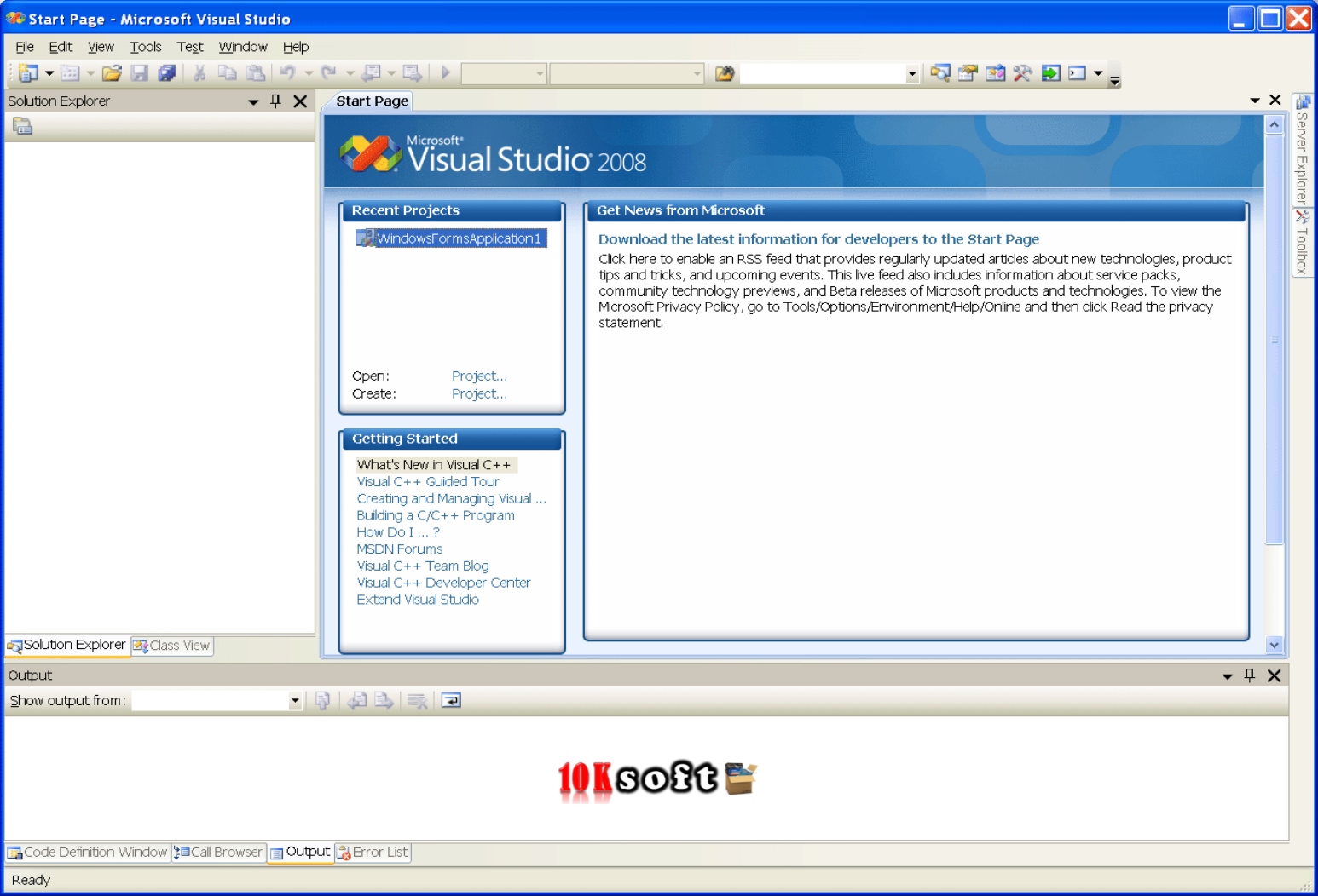 Microsoft Visual Studio 2008 Free Download