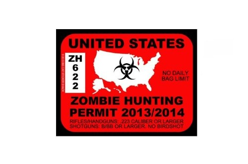 The Geeky Store U S Zombie Hunting Permit Bumper