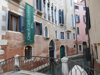 Goldoni's home was the beautiful Palazzo Centani