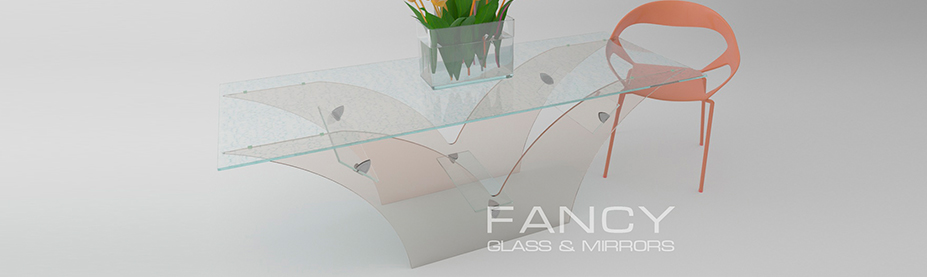 Glass coffee table with v shaped base phoenix